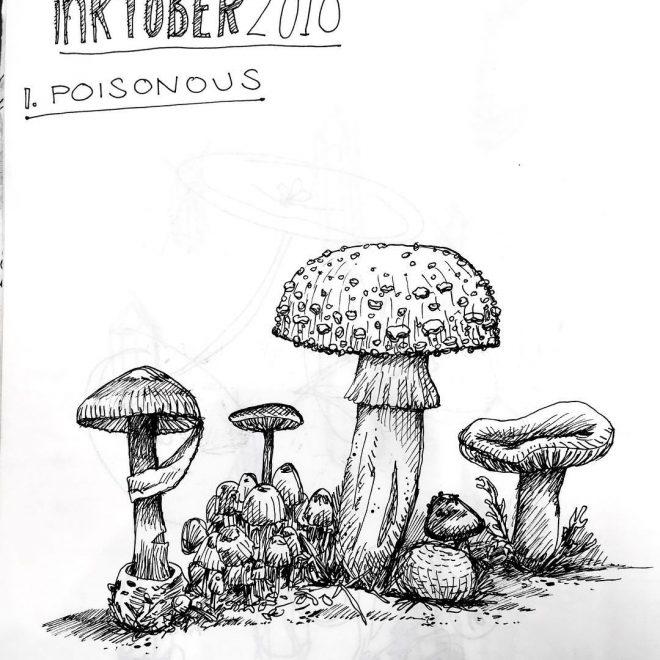 Inktober prompt: Poison