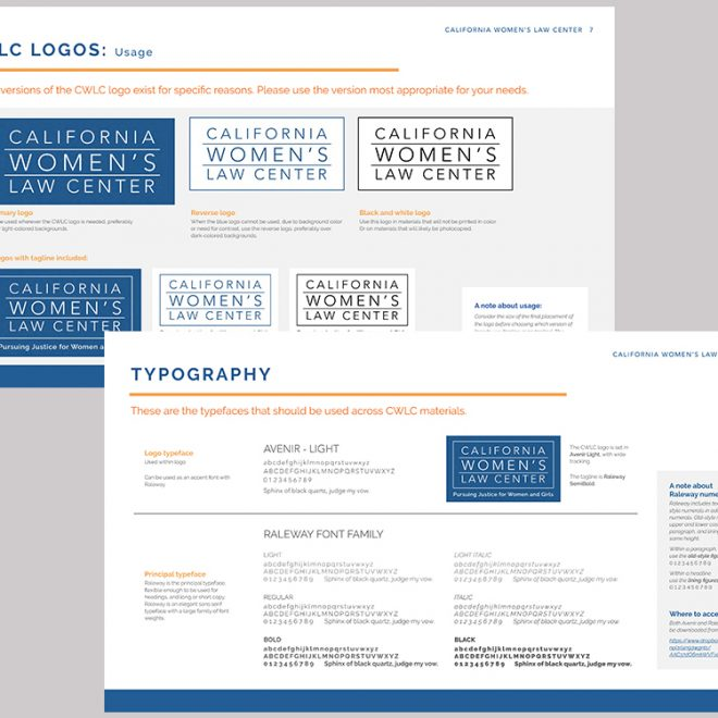 Streamlined logo and typography guidelines