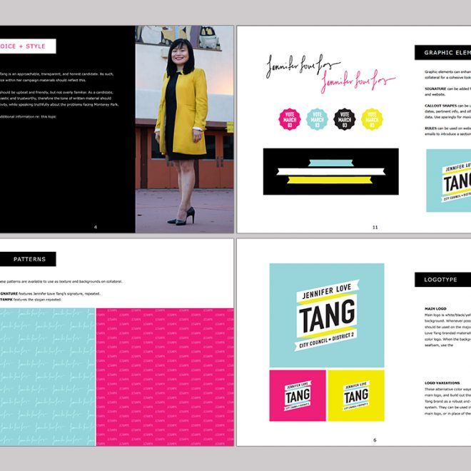 Jennifer Love Tang Campaign Style Guide