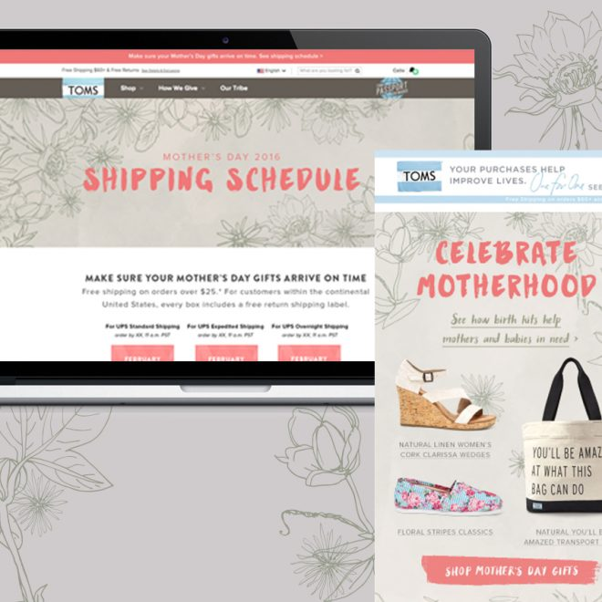 Illustrations in use across Mothers Day marketing