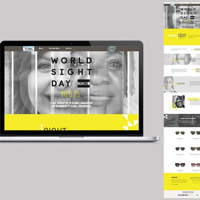 World Sight Day - Desktop and mobile page design and layout