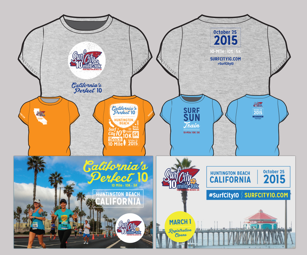 Surf City 10 T-Shirt and Postcard Designs