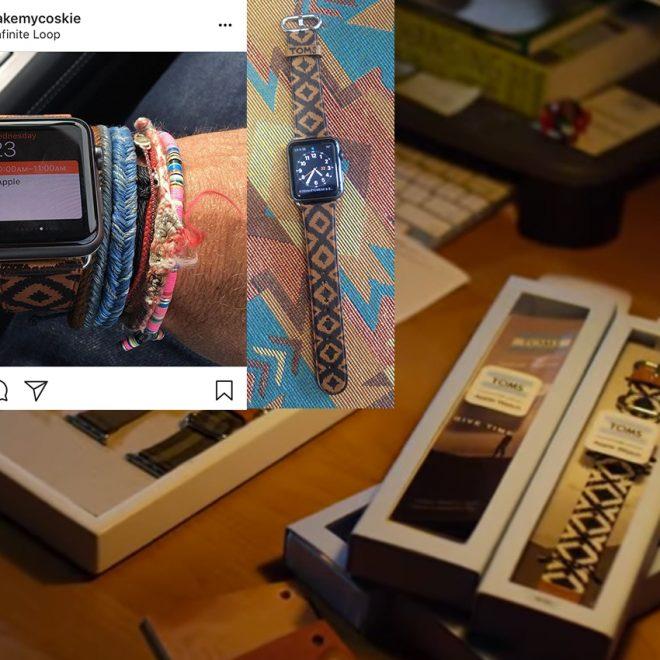 Apple Watch x TOMS watch band prototype design
