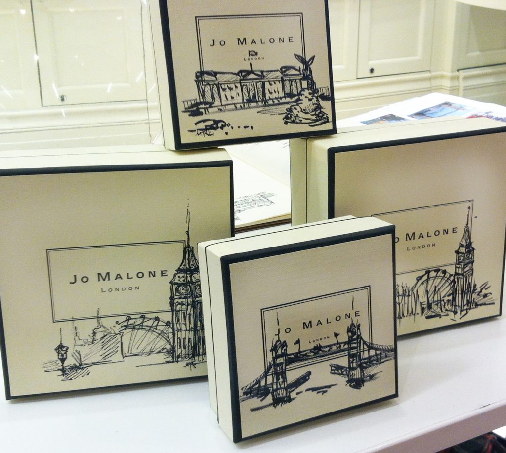 Jo Malone Illustrated Packaging