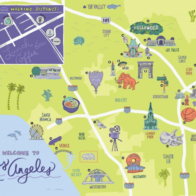 LA City Guide Map